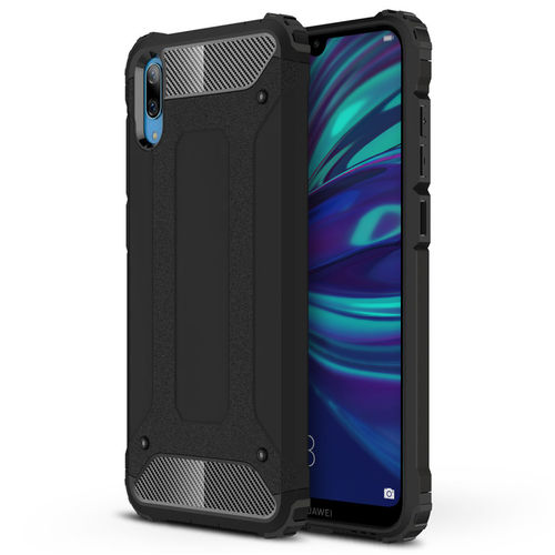 Military Defender Tough Shockproof Case for Huawei Y7 Pro (2019) - Black